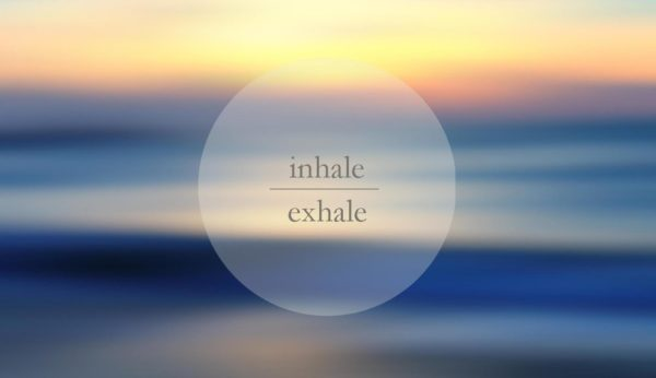 inhale exhale beach sunset